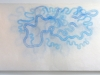 Love Clouds, woodcut 2011, 92 x 180 cm