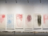 Totuudellisia tarinoita Truthfull Stories, installation with woodcut prints, 200 x 650 cm, Salo Art Museum 2011. Photo Teija Ala-Rakkola.